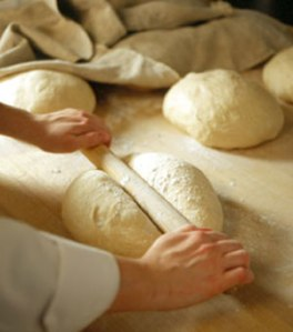bread made by hand is heavanly
